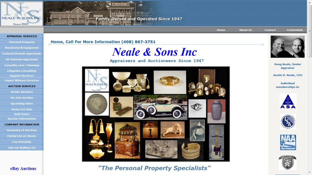 Neale & Sons Appraisers Auctioneers