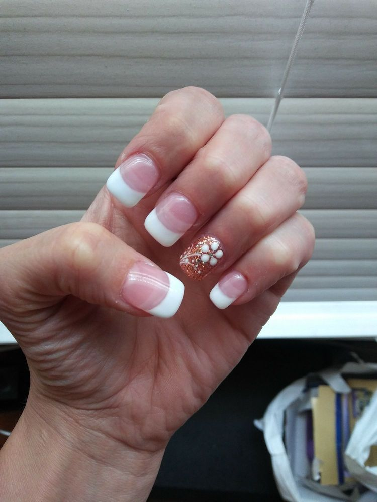 You can see where the clear tips start under the acrylic! I\'m beyond ...