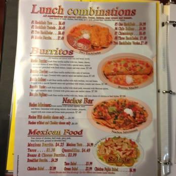 El Jalisciense Mexican Restaurant Menu