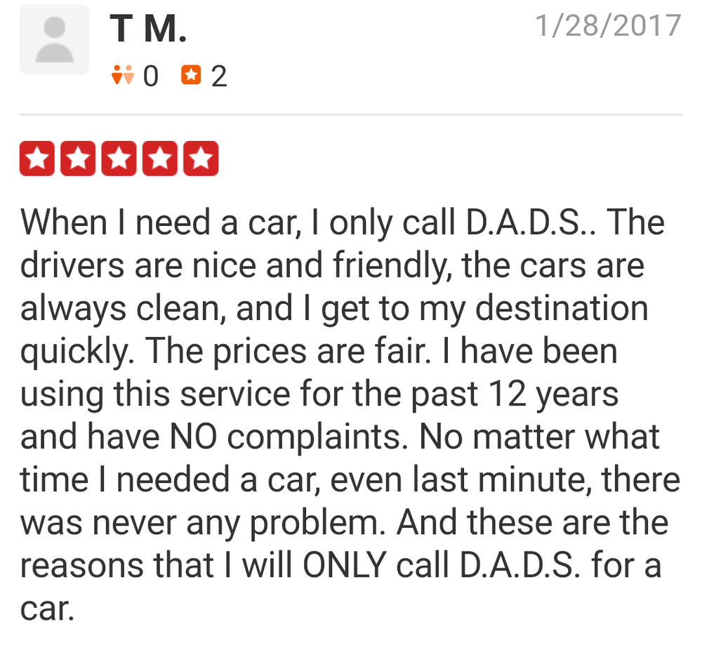 D A D S Taxi & Limo: 51 US Hwy 206, Augusta, NJ