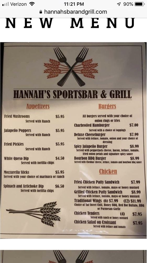 Hannah's Sportsbar and Grill: 1010 Chico Dr, Lawrenceburg, KY