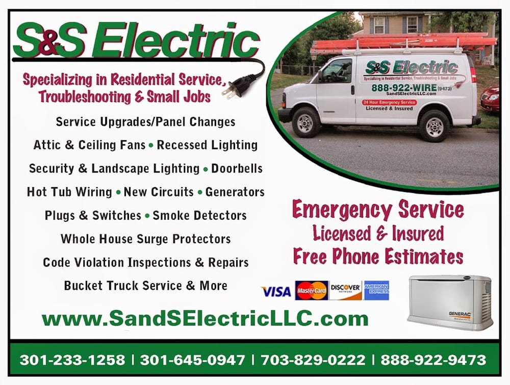 S & S Electric LLC: Waldorf, MD