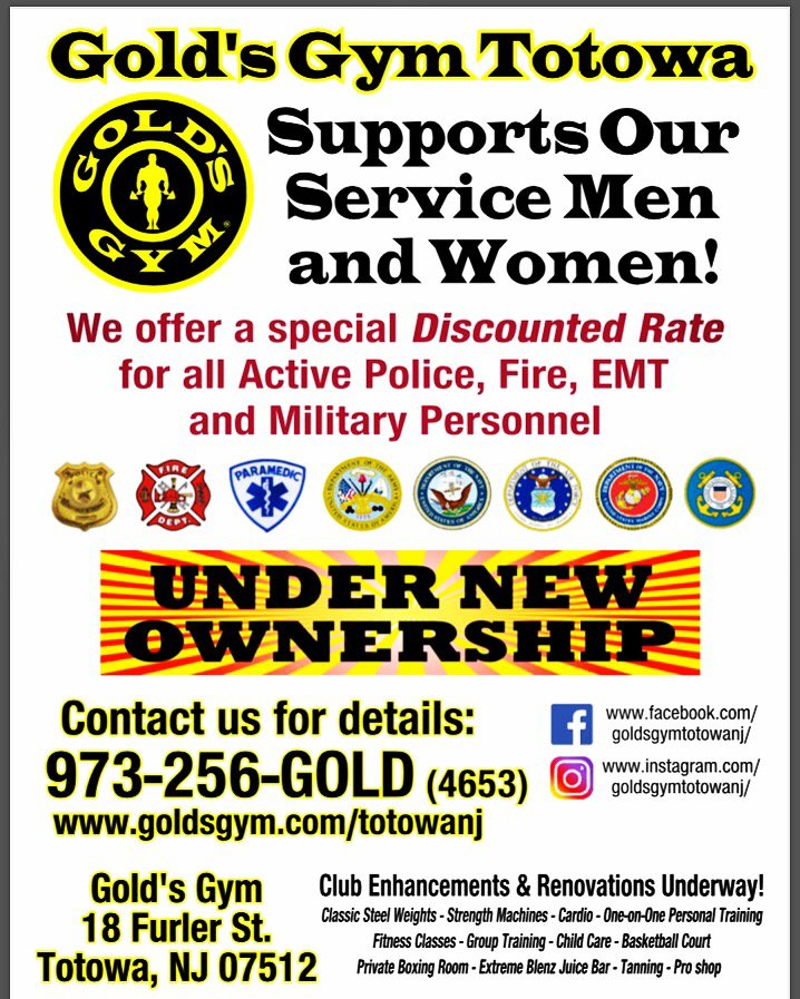 As part of Gold`s Gym`s Military Discount Program to all U.S. Military and their spouses will save 20% off regular dues at any participating Gold`s Gym and can enroll anytime for a reduced fee of $