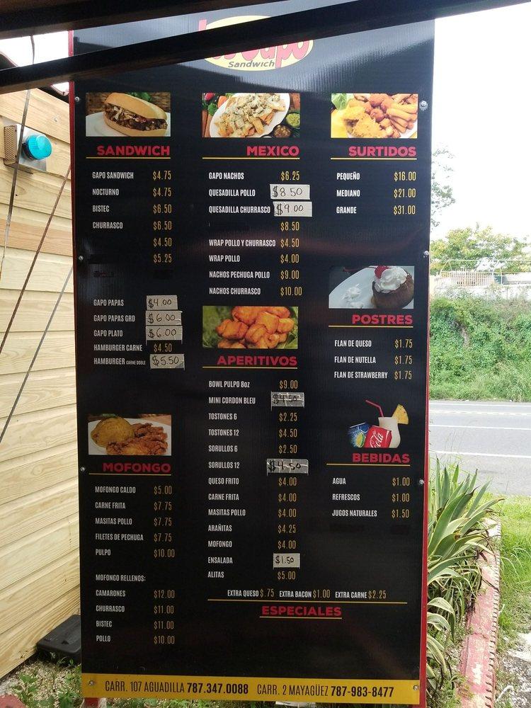 Los Gapo Sandwich: PR-107 km. 3.2, Aguadilla, PR