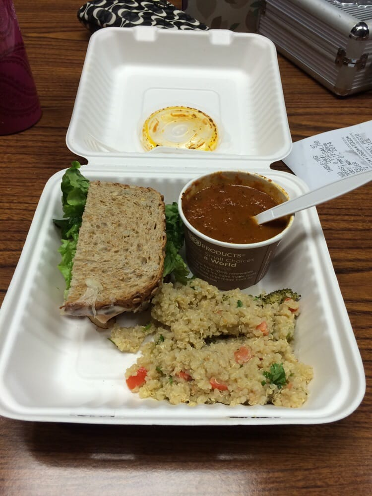 Combo 1 2 Pesto Sandwich With Tomato Soup And Quinoa Yelp
