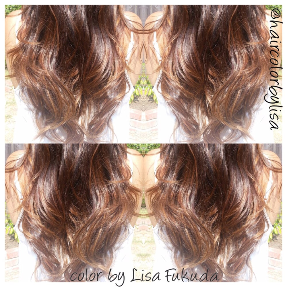 Asian Hair Natural Looking Bronde Ombre Balayage Highlights By
