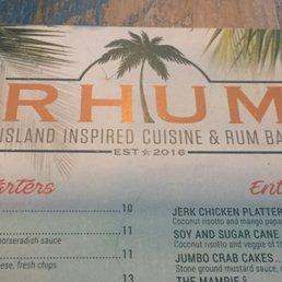 Rhum Patchogue Drink Menu