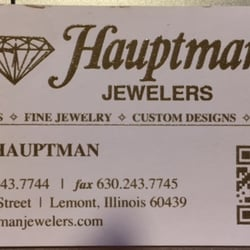 Photo Of Hauptman Jewelers Lemont Il United States Front Business Card