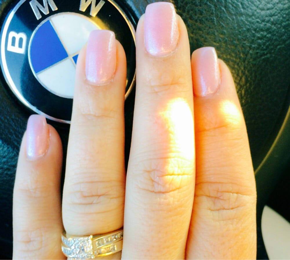 Loving this nail shape, mini coffin nails til\' they\'re long enough ...