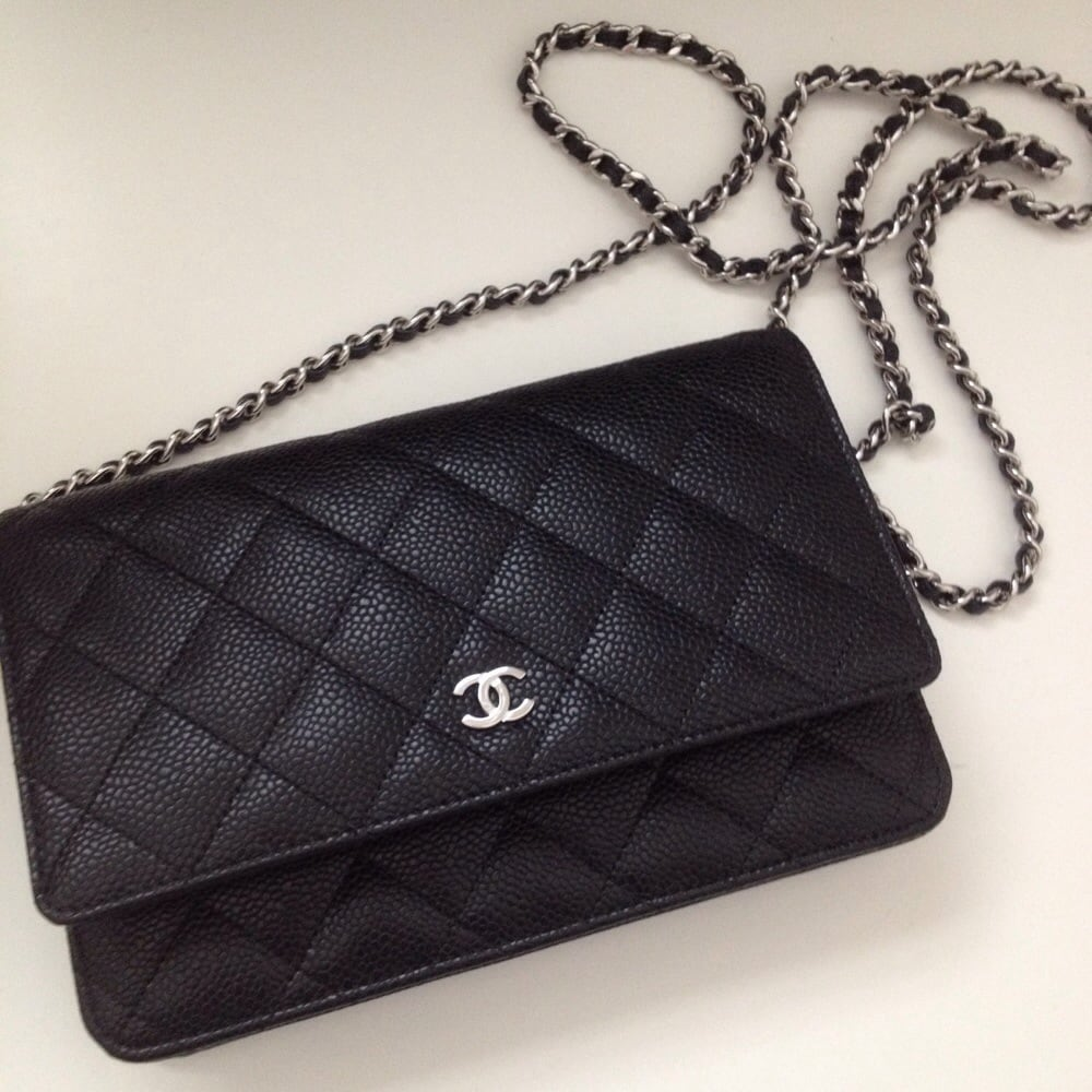 Long chain length (cross body). Chanel wallet on chain in classic ... : chanel quilt - Adamdwight.com