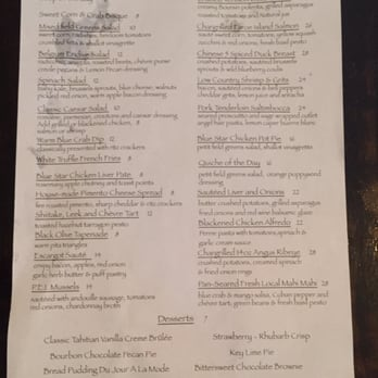 Photo Of Blue Star Vero Beach Fl United States Menu