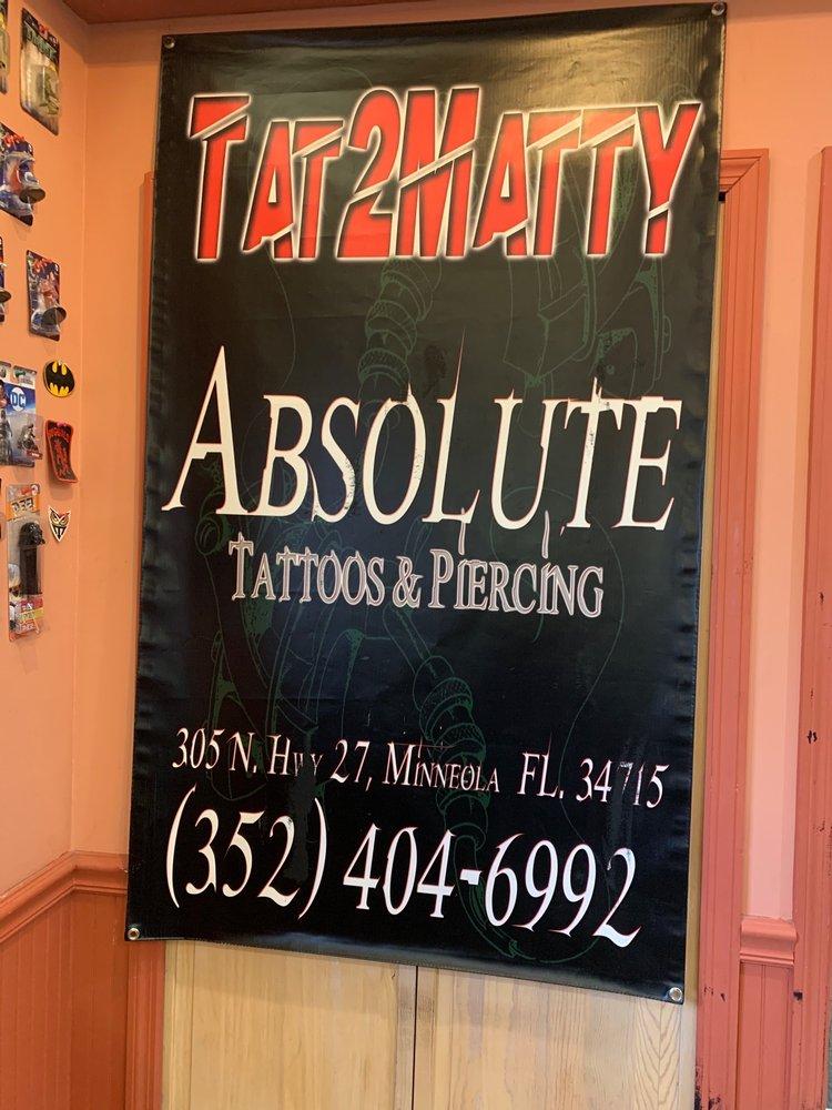 Absolute Tattoo & Piercing: 305 A N Hwy 27, Minneola, FL