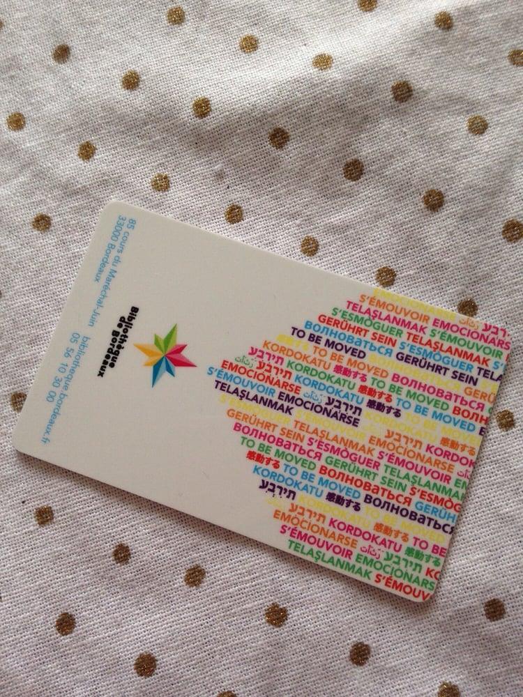 Carte Bibliotheque Bordeaux.La Carte D Adherent Valable Dans Toutes Les Bibliotheques De
