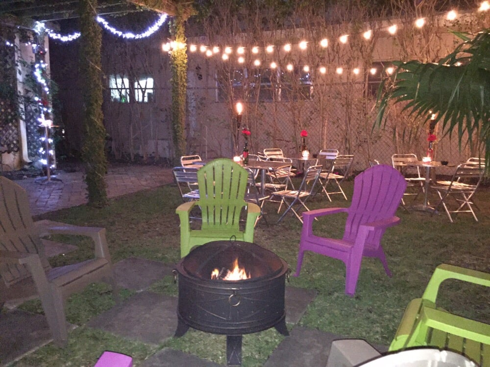 after your paint session you can sit by our lovely fire pit only