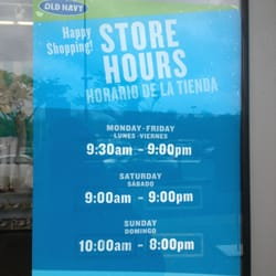 Old Navy Store Hours 119