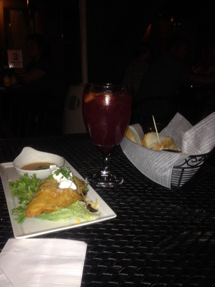 The empanada, the sangria and the bread with aho... Yum ...