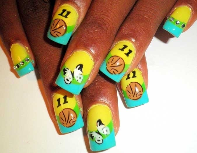 Photo of Nancy Hair & Nails - Suisun City, CA, United States. This - This Is Basketball Nail Art - Yelp