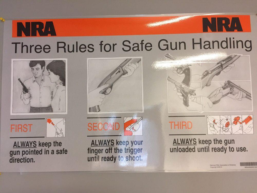 Nra 3 Rules For Safe Gun Handling Yelp