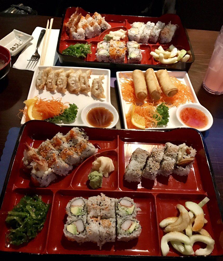 Food from Fancy Q Sushi & Thai