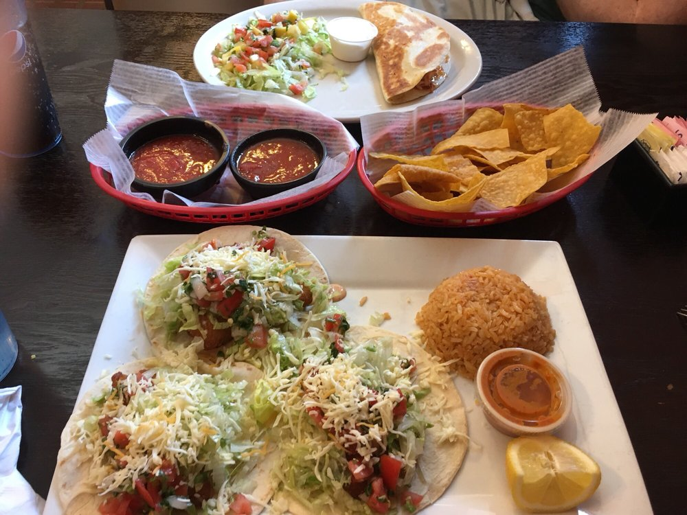 Food from Garcia's Mexican Restaurant