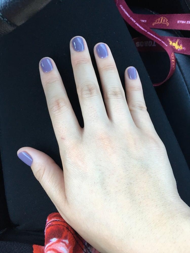 Not a hand model but I love my plum wine gel nail polish! Dries so ...
