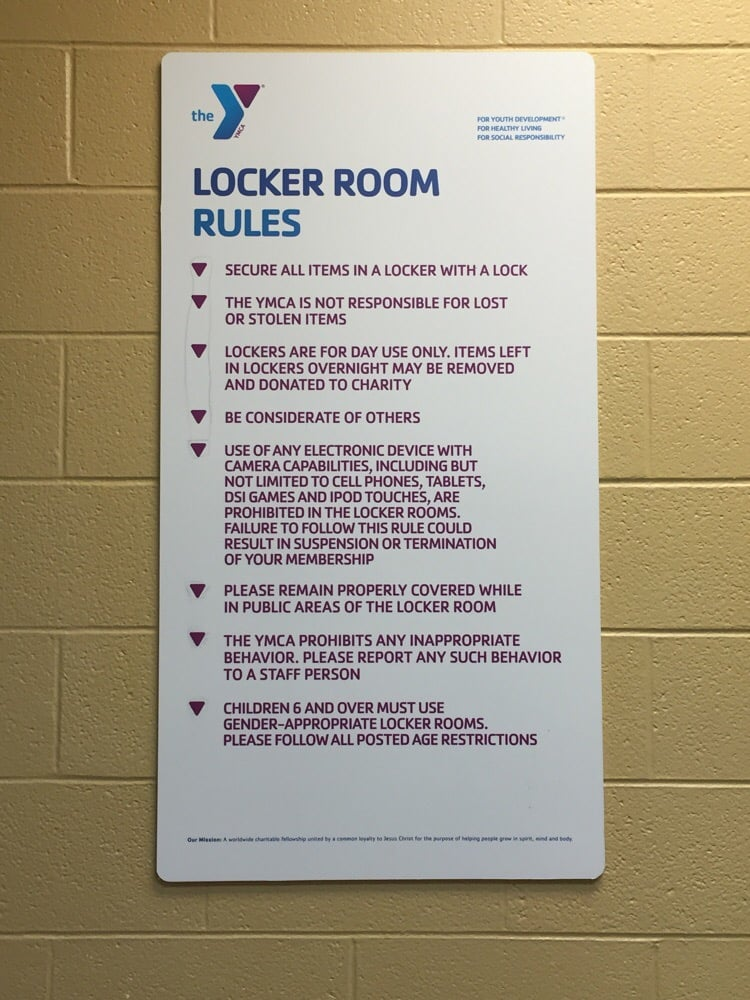 Locker Room Rules And Regulations