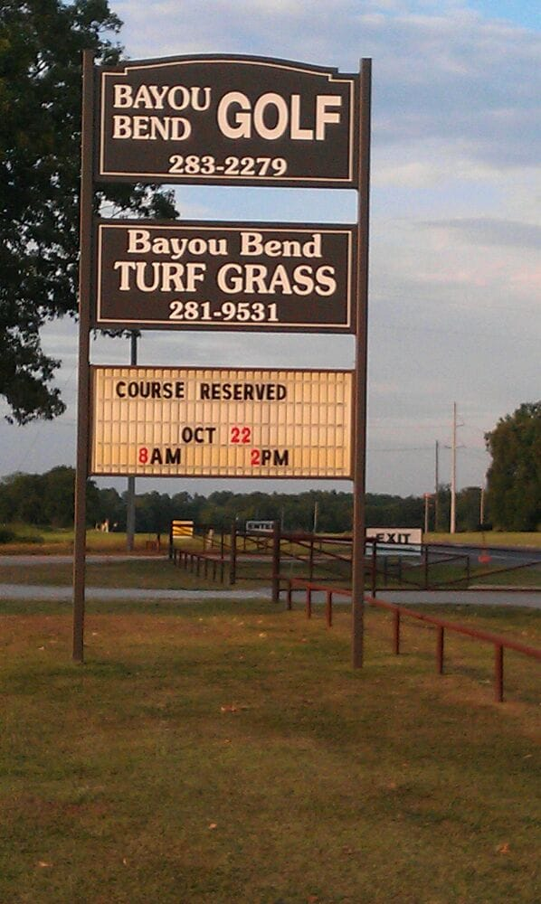 Bayou Bend Golf: 1103 New Monroe Rd, Bastrop, LA