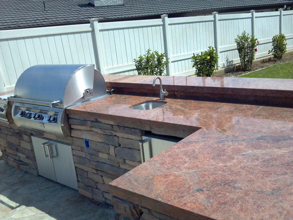 Outdoor Kitchen Countertop Yelp