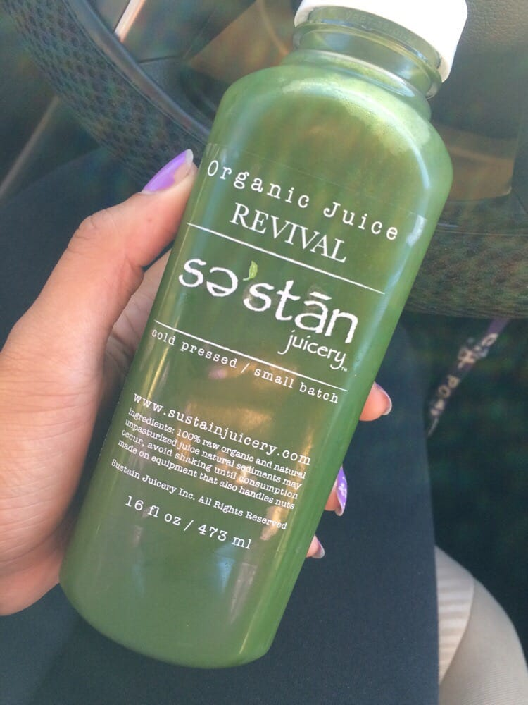 Sustain Juicery - Chino Hills, CA, United States. Revival - strong kale taste with a hint of cayenne