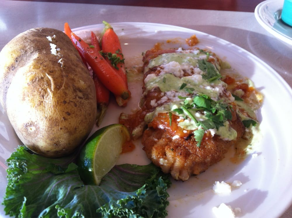 Catch of the day pacific snapper w baked potato and for Anthony s fish grotto san diego