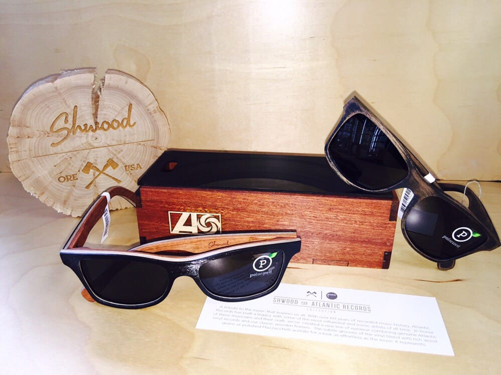 new shwood sunglasses limited edition vinyl atlantic records and