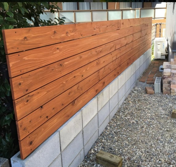 Redwood Fence Photo of ProLine Fences - San Diego, CA, United States. Horizontal Stained  Redwood