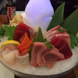 Kumo Sushi, Hibachi, and Lounge - New City, NY, United States. Beautiful arrangement of Chef's Sashimi deluxe