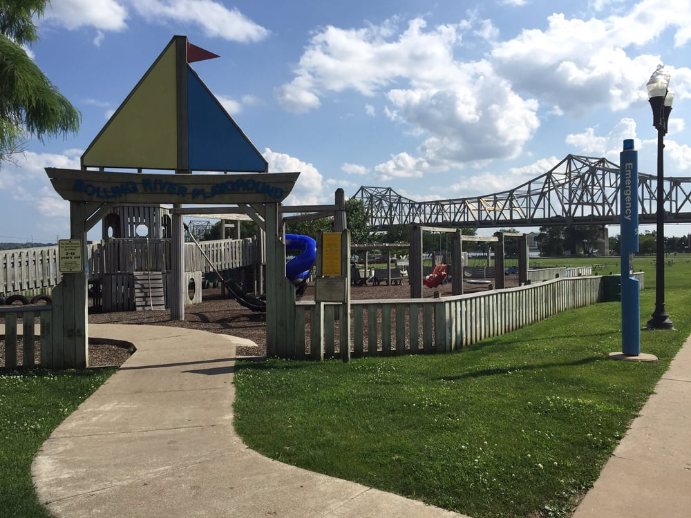 Rolling River Playground: Water St, Peoria, IL