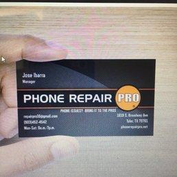 Phone repair pro mobile phone repair 1619 s broadway for Phone repair business card