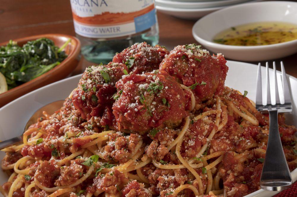 Food from Bertucci's Italian Restaurant