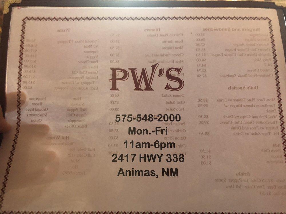PW's: 2417 Hwy 338, Animas, NM