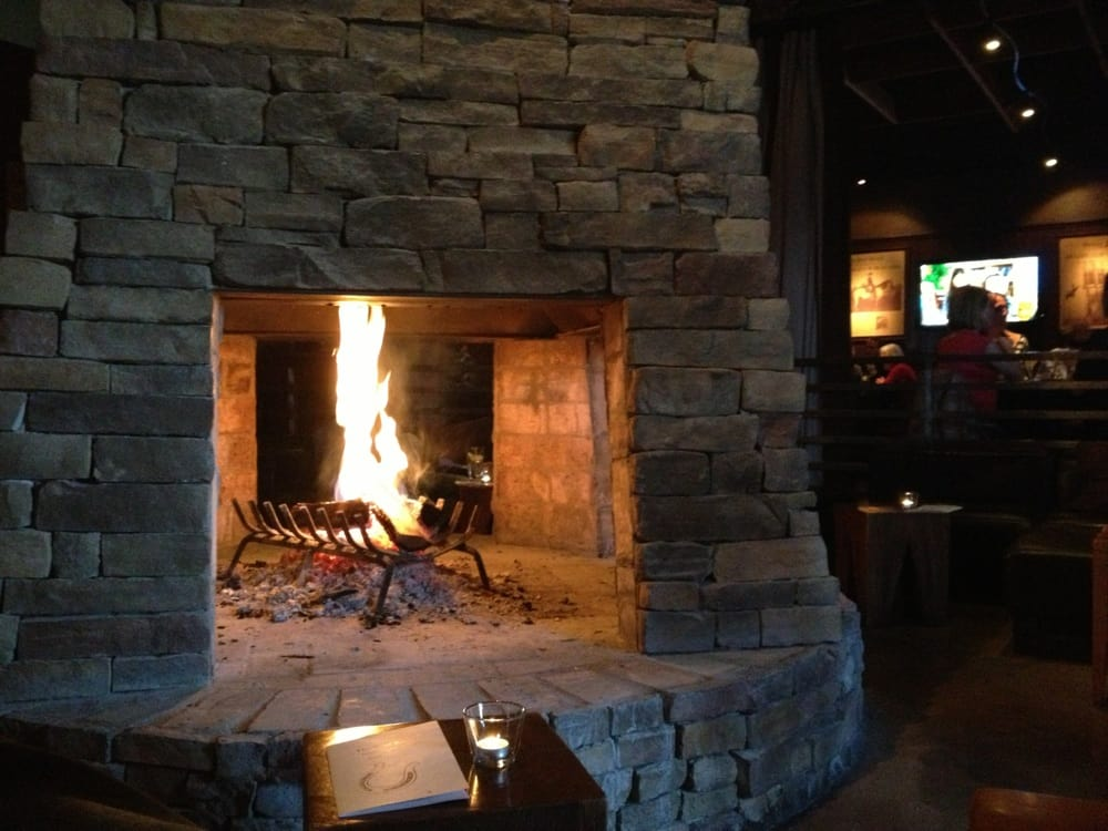 Giant Fireplace In Middle Of Restaurant Yelp