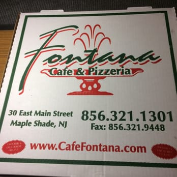 Cafe Fontana Menu Maple Shade Nj