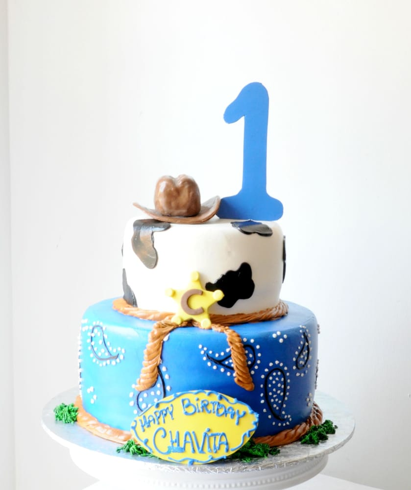 Cowboy theme birthday cake bluecakehouse