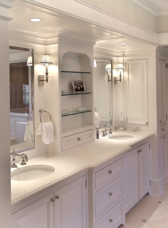 White painted vanity cabinet in sherman oaks yelp for Bathroom cabinets yelp