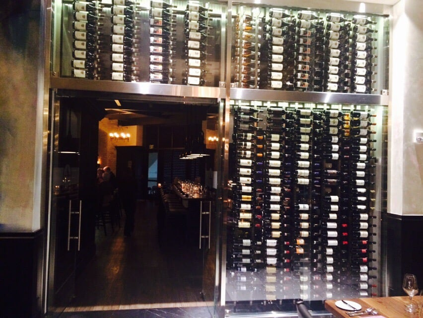 Some of the 8 000 bottles of wine surrounding a private for O bar private dining room