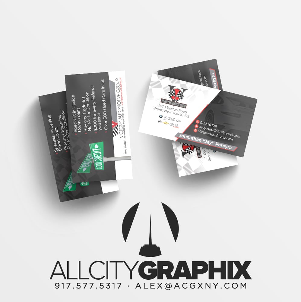 Auto dealer business cards yelp 36 photos for all city graphix website graphic design reheart Image collections