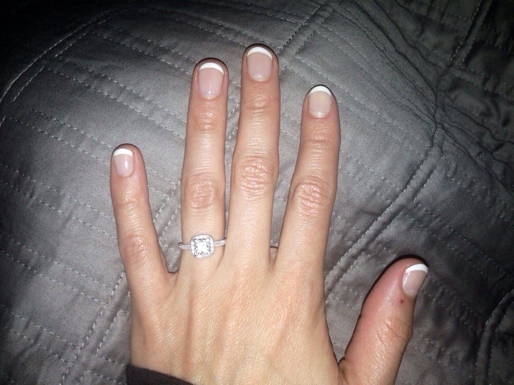My Gel French manicure after a week - Yelp