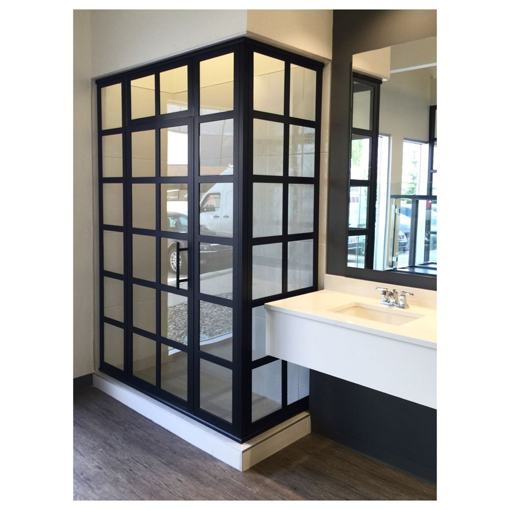 Grid Scapes Shower Doors Custom Made To Fit Your Space Yelp