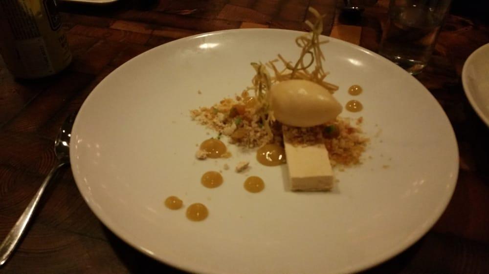 Peanut butter semifreddo- apple miso sorbet - Yelp