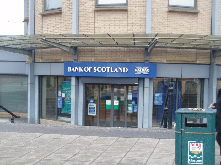 bank of scotland bancos cooperativas de cr dito 1195 duke st parkhead glasgow reino. Black Bedroom Furniture Sets. Home Design Ideas