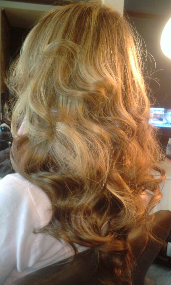 Full Head Highlights Microlink Sew In Weft Extensions Yelp