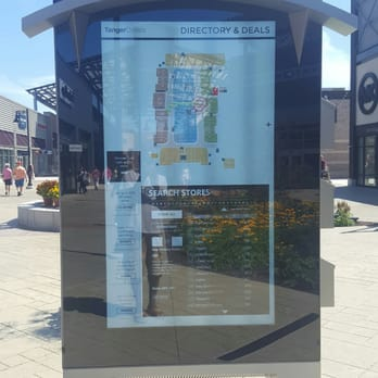 po of tanger outlets grand rapids mi united states touchscreen map