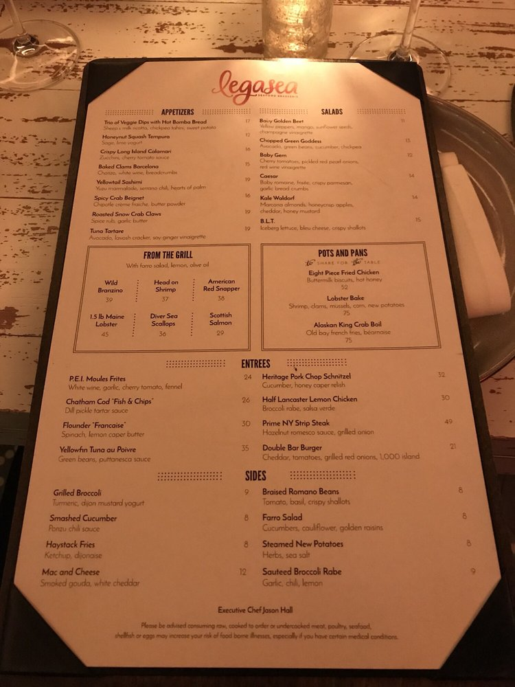 Menu At Table Most Prices Are Increased Yelp - Table 24 menu